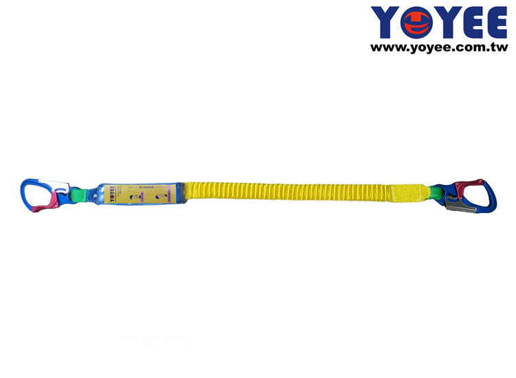Energy Absorber with Single Elastic Lanyard